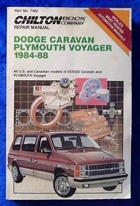 Chiltons Dodge Caravan Plymouth Voyager 1984