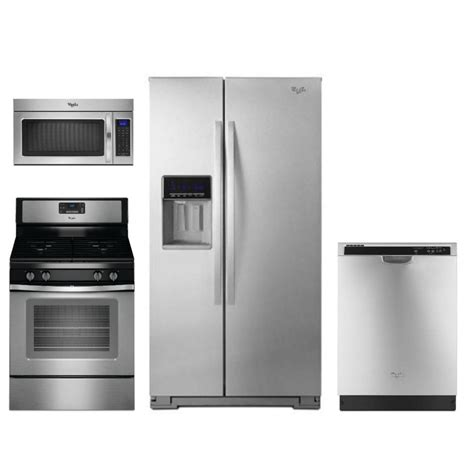 Whirlpool 4 Piece Kitchen Appliance Package With 50 Cu