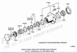 Ford Front Hub Assembly Diagram
