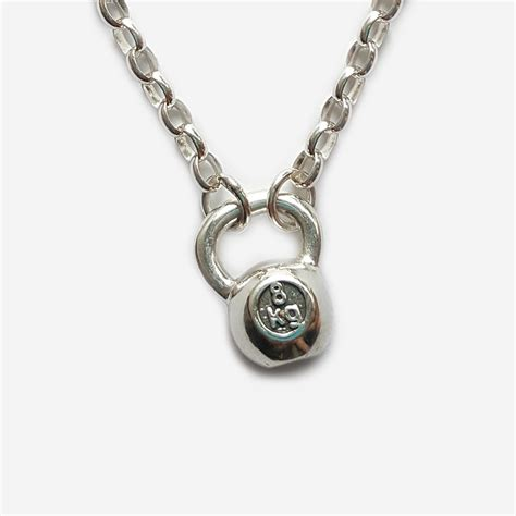 kettlebell chain pendant nz necklaces