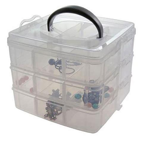 boite de rangement avec poign 233 e pour perles et scrapbooking
