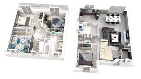 plan de maison à étage 4 chambres maison iris 4 ch