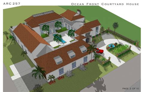multi story family homes designed  arcadia design oceanfront courtyard house cocoa beach