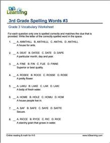 vocabulary worksheets for 3rd graders grade 3 vocabulary worksheets printable and organized by subject k5 learning