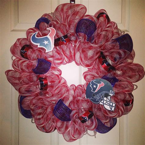 houston texans deco mesh wreath  wreaths deco mesh