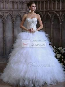 voluminous ball gown tulle sweetheart sweep train ruffles With wedding dress with ruffles on bottom