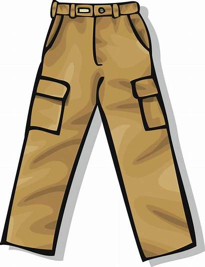 Pants Clipart Clothing Clip Pantalones Objects Flashcards