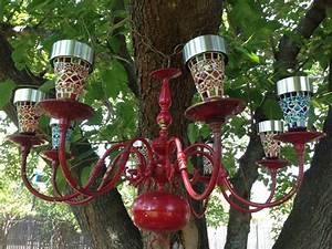 Diy Stakes For Christmas Lights Diy Colorful Outdoor Lighted Chandelier Found Brass