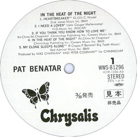 pat benatar in the heat of the noname