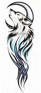 Tribal Wolf tattoo by MandalynFox on DeviantArt