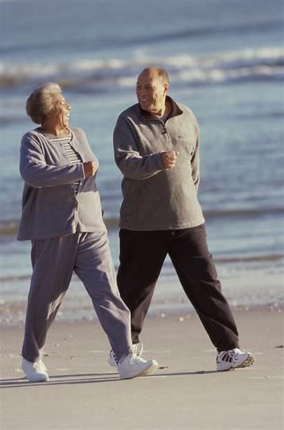 Walking Older Adults Heart Couple Senior Walk