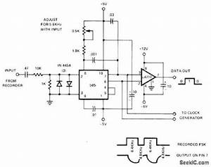 fsk detector for cassette recorded data circuit diagram world With fsk demodulator