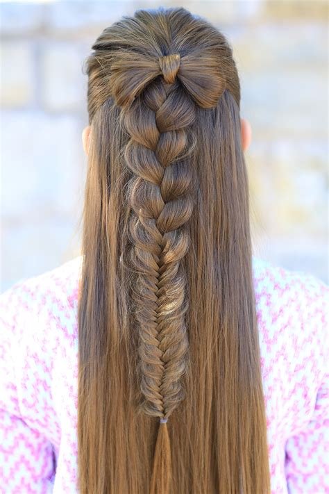 bow combo cute girls hairstyles