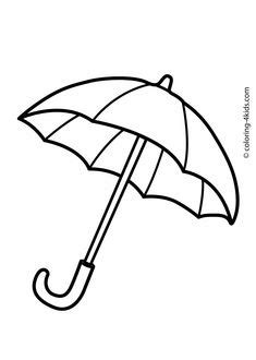 Umbrella Coloring Pages | Nature Coloring Pages | Umbrella