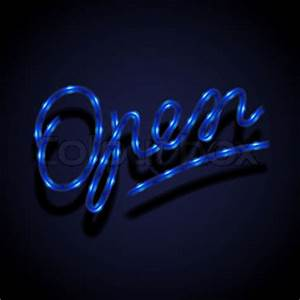 Glowing neon sign Open Stock Vektor