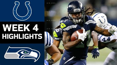 colts  seahawks nfl week  game highlights youtube