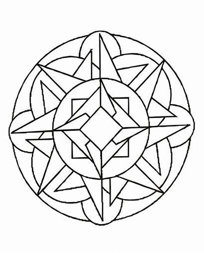 Coloring Mandalas Simple Pages