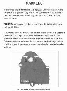 Ch 7348  Chevy Silverado Blend Door Actuator Schematic Wiring