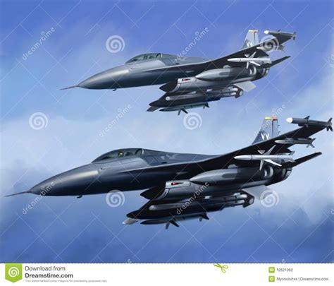 Us Air Force Aircrafts Stock Illustration. Image Of