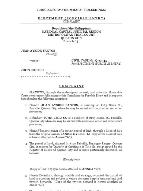 Summary Proceedings | Eviction | Lawsuit
