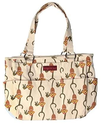choose bungalow monkey pocket tote bag