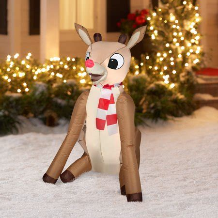 airblown christmas inflatable  rudolph lighted outdoor