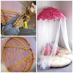Turn, Your, Old, Papasan, Into, A, Canopy, Reading, Nook