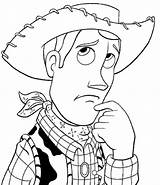 Cowboy Coloring Pages Story Picgifs Toy sketch template