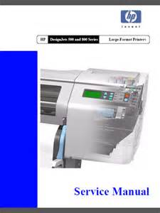 hp design jet 500 hp designjet 500 500ps 800 800ps service manual