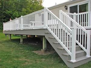 vinyl deck railing kits tips safety for vinyl stair With deck building kits lowes
