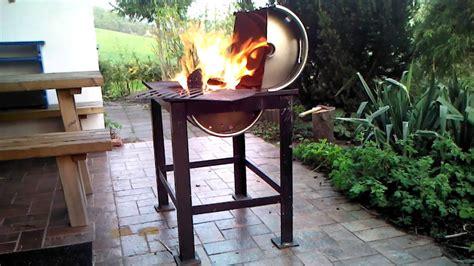grill selber bauen stein grill aus bierfass selbst gebaut