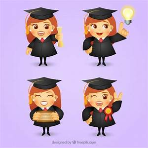 Graduate girl character Vector | Free Download
