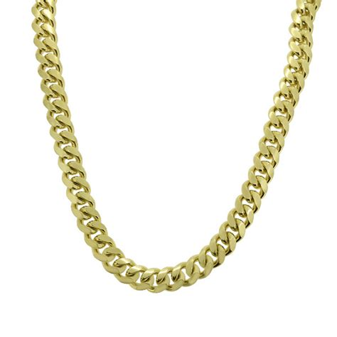 gold  sterling silver miami cuban chain sterling