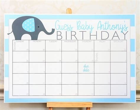 planning  baby shower check   elephant baby