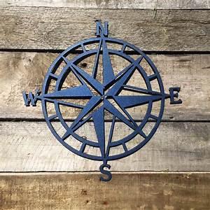 Nautical compass nautical wall art metal wall art for Nautical wall decor