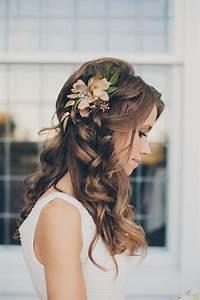 Beautiful Long Wedding Hairstyles With Flowers IPunya