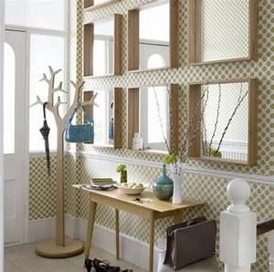 modernen flur gestalten 80 inspirierende ideen With balkon teppich mit tapete spiegel