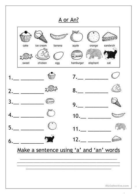 a vs an worksheet free esl printable worksheets made by