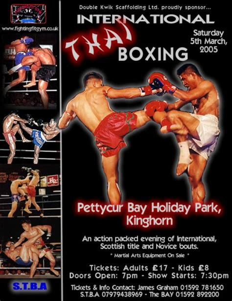 ax muay thai kickboxing forum  wost show flyers