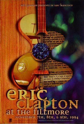 eric clapton vintage concert poster  fillmore