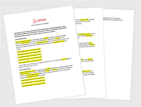 airbnb guest review template airbnb guide