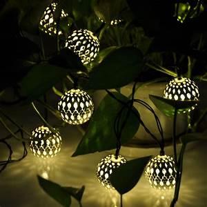 Globe Solar power String Lights for Outdoor Garden Party