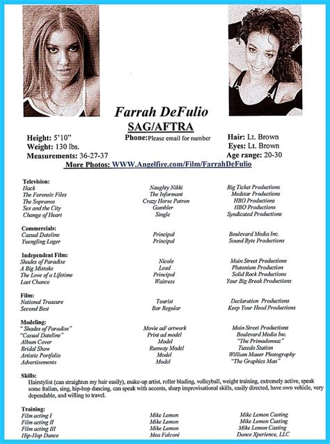 actor resume template  boost  career