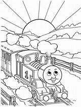 Thomas Train Coloring Printable Colouring Sheets Friends Tank Cartoon sketch template