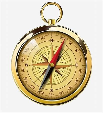 Compass Golden Clipart Transparent Map Pocket Pngtree