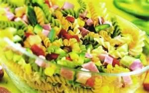 recette salade de pates multicolores la recette d salade de p 226 tes multicolores