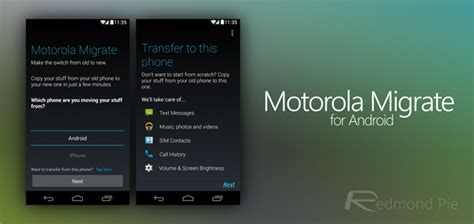 motorola migrate lets you transfer your content from iphone to android video redmond pie