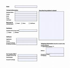 Sample Computer Service Request Form