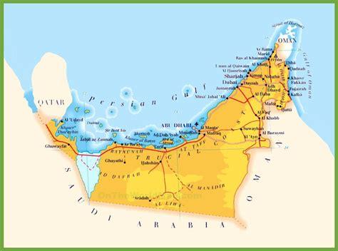 map  uae  oman  travel information