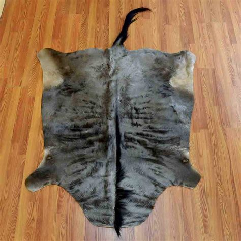 Skin Rug With by Blue Wildebeest Skin Rug Sw5089 For Sale Safariworks